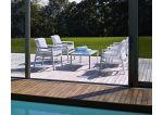 Zestaw ogrodowy stół Alloro / krzesła Aria