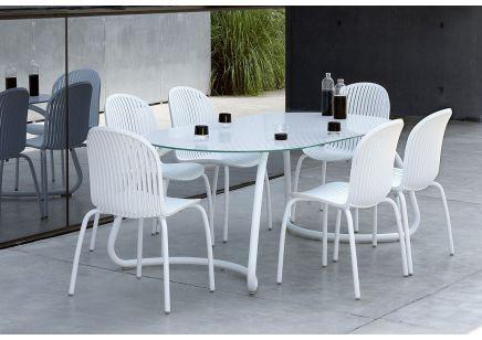 Meble ogrodowe Nardi stół LOTO DINNER fotele NINFEA DINNER