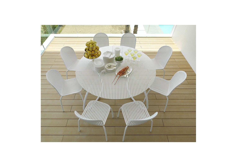 Meble ogrodowe: stół LOTO DINNER 170 + krzesła NINFEA DINNER