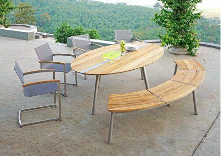 Meble ogrodowe ZEBRA TRIX  stół ławka i krzesła