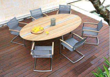 Meble ogrodowe Zebra zestaw stół TRIX i fotele SETAX