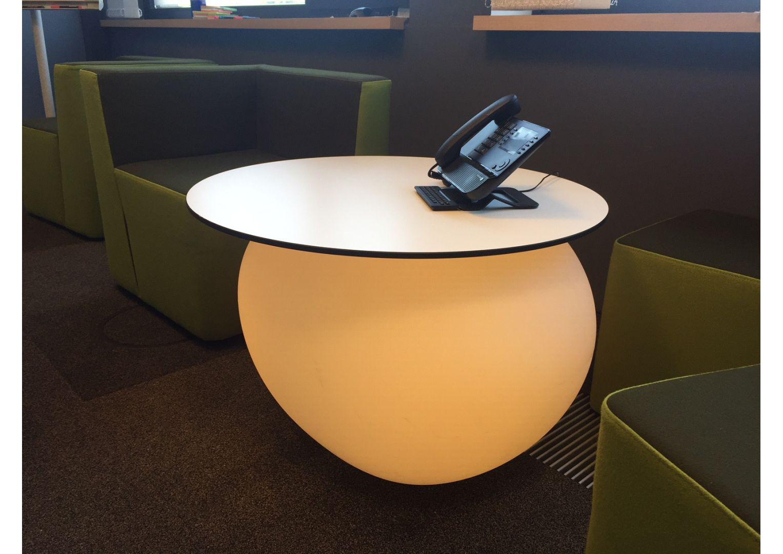 Designerska Donica ogrodowa lub do biura w kształcie kamienia Degardo Storus V podświetlana