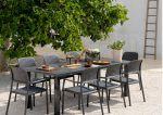 Meble ogrodowe Nardi stół LEVANTE i fotele BORA