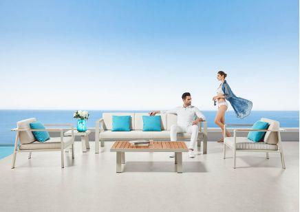 Zestaw aluminiowych mebli ogrodowych  Higold Nofi sofa i fotele