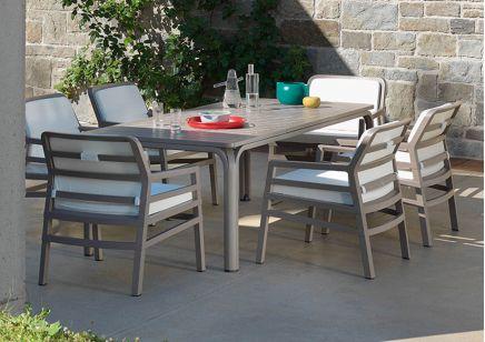 Meble ogrodowe Nardi stół ALLORO  fotele ARIA