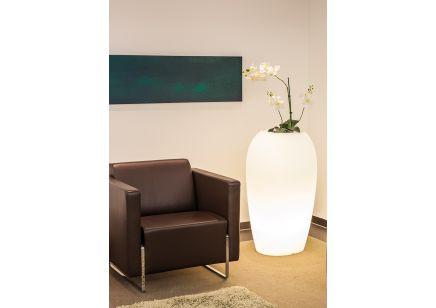 Designerska Donica ogrodowa Degardo Storus V podświetlana w kształcie kamienia