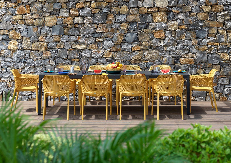 Zestaw mebli ogrodowych Nardi fotele Net stół rozsuwany Rio