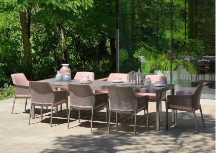 Meble ogrodowe Nardi: stół RIO + fotele NET Relax