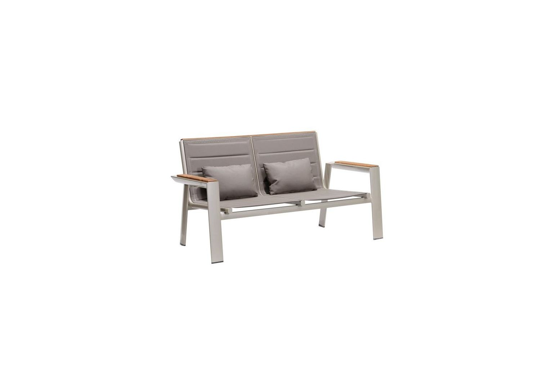 Dwuosobowa sofa aluminiowa do ogrodu z poduszkami GENEVA 2